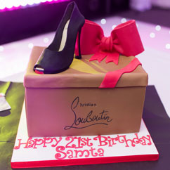 Samta Birthday cake at Aria Suite Leeds